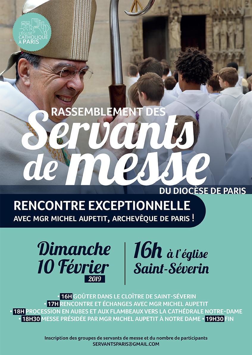 Rassemblement des Servants d'autel et Servantes d'assemblée le 10 février 2019 à Paris