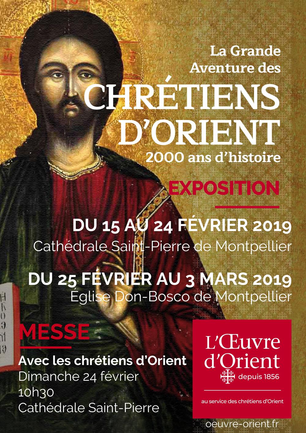 Exposition La Grande aventure des Chrétiens d'Orient jusqu'au 3 mars 2019 à Montpellier (34)