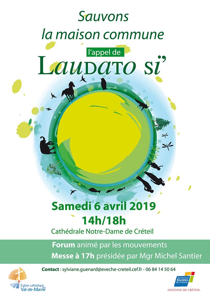 6 avril 2019 de 14h à 18h: Sauvons la maison commune, l'appel de Laudato Si' à Créteil (94)