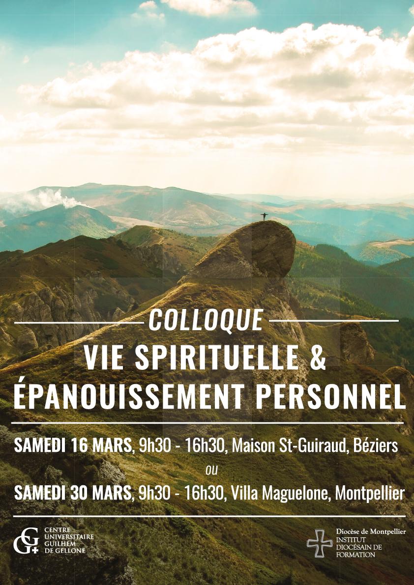 Colloque Vie Spirituelle et Epanouissement Personnel le 16 mars 2019 à Béziers (34) et le 30 mars à Montpellier (34)