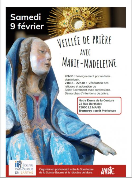 Soirée Miséricorde avec Sainte Marie Madeleine –  9 février 2019 – Notre Dame de la Couture au Mans (72)