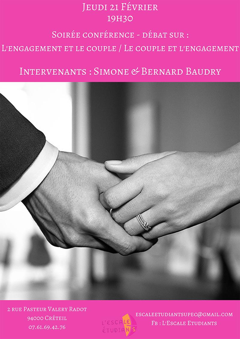 Le couple et l'engagement – Conférence-débat le 21 février 2019 à Créteil (94)