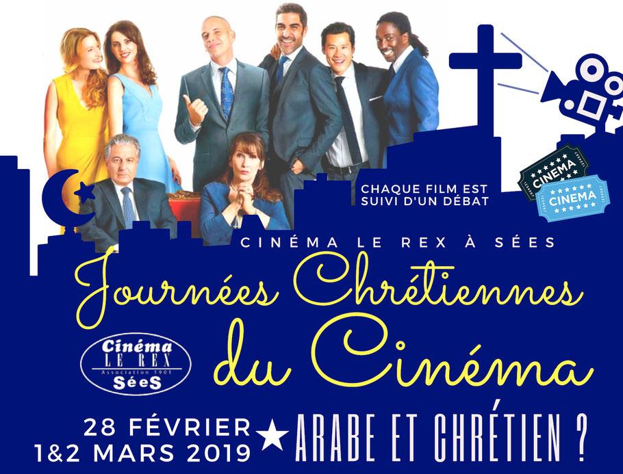 Journées chrétiennes du cinéma à Sées (61) les 28 février, 1er & 2 mars 2019