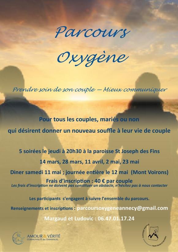 Parcours Oxygène – 5 soirées du 14 mars au 23 mai 2019 à Annecy (74)