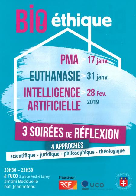 Bioéthique: soirée de réflexion sur l'Intelligence Artificielle le 28 février 2019 à Angers (49)