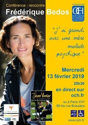 Conférence-rencontre avec Frédéric Bedos le 13 février 2019 à Paris ou en direct sur och.fr