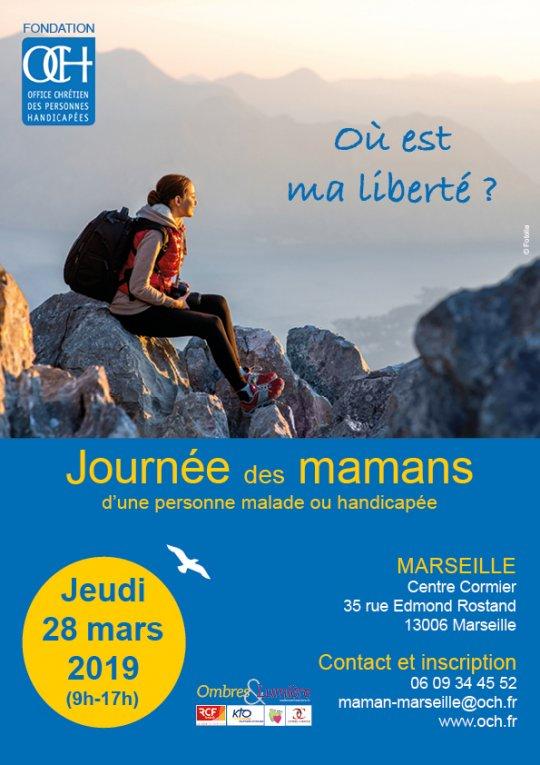 Journée des mamans d'une personne malade ou handicapée le 28 mars 2019 à Marseille (13)