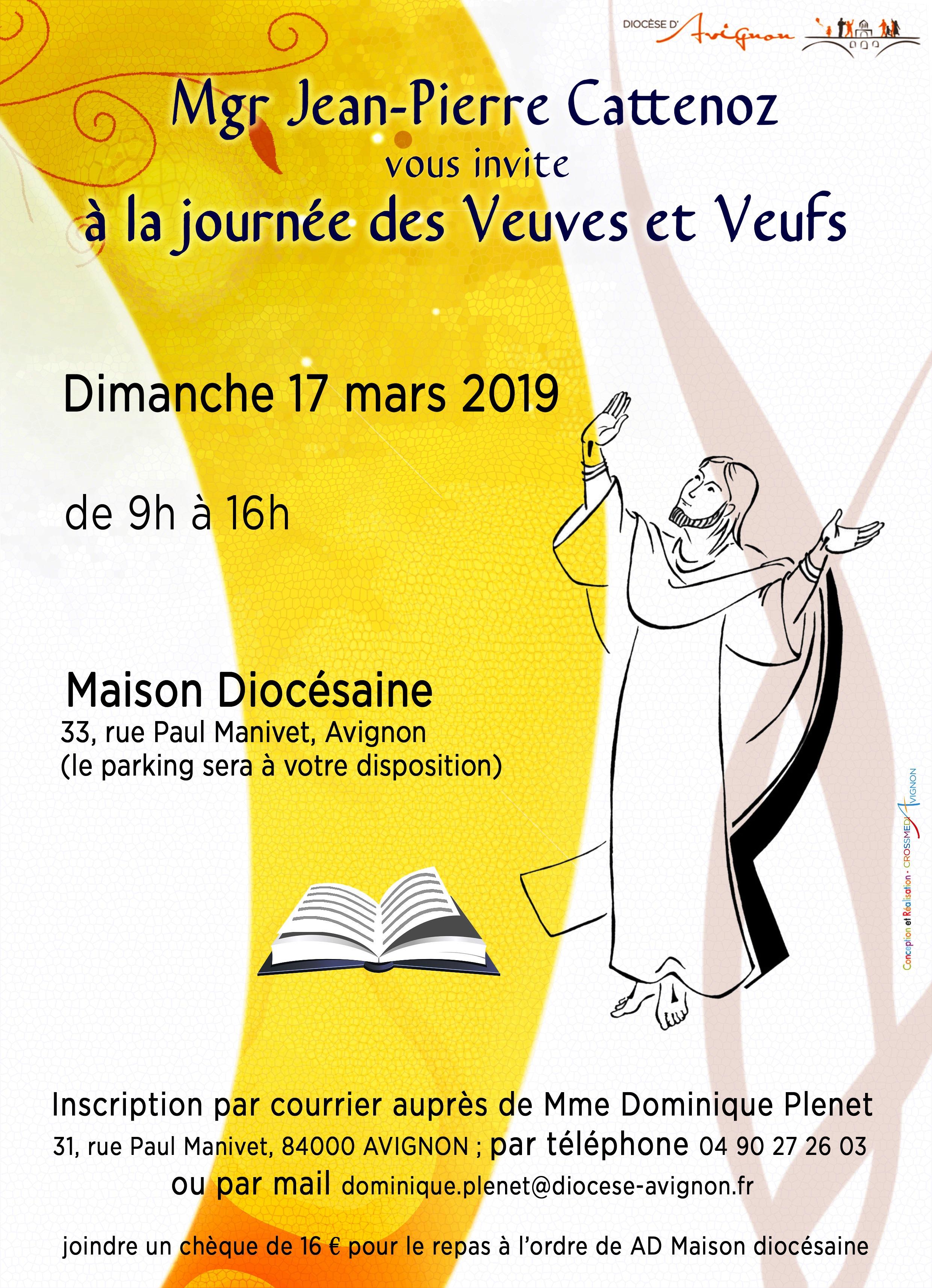 Journée des veuves et des veufs le 17 mars 2019 à Avignon (84)