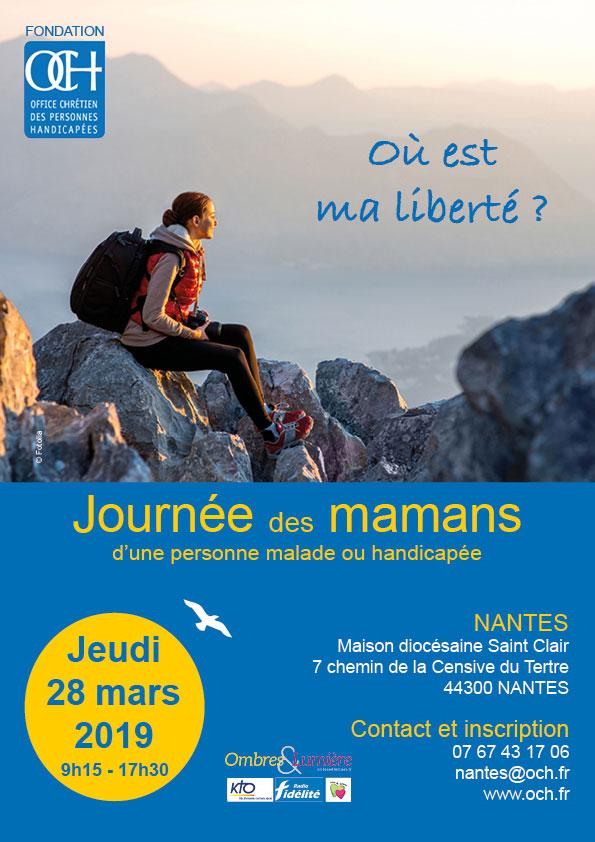 28 mars 2019: Journée des mamans d'une personne malade ou handicapée – Nantes (44)
