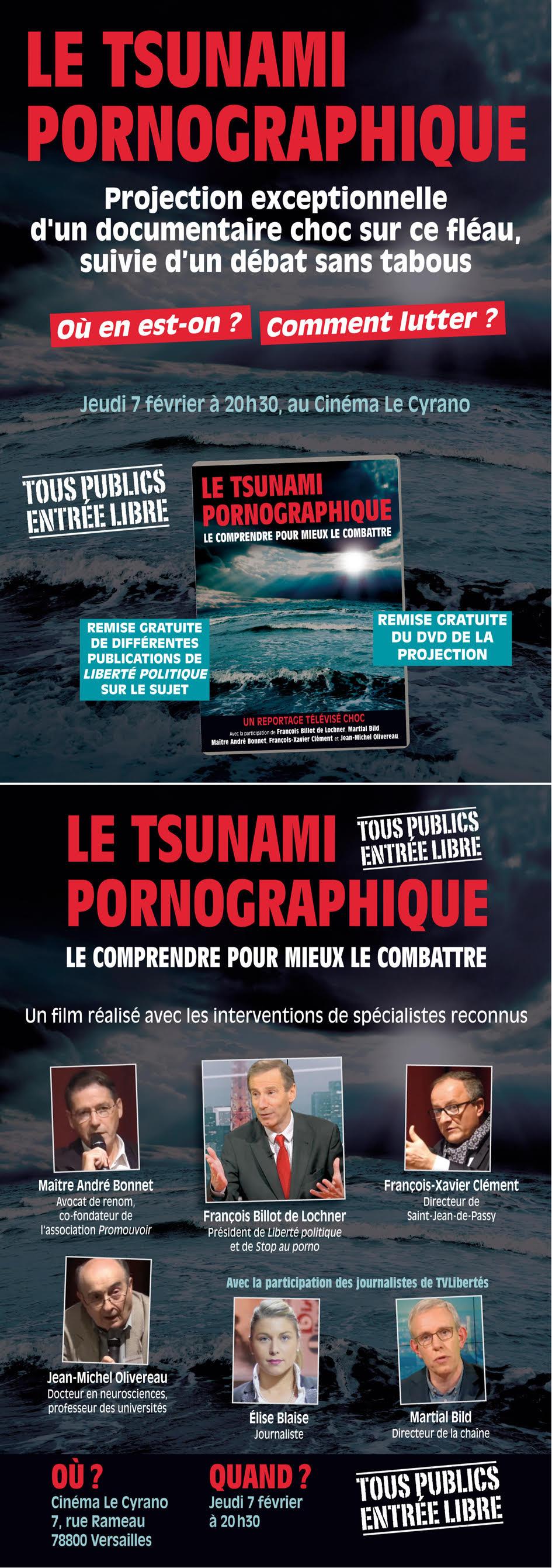 """Lancement du DVD """"Le tsunami pornographique"""""""