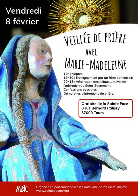 Veillée de prière avec sainte Marie-Madeleine le 8 février 2019 à Tours (37)