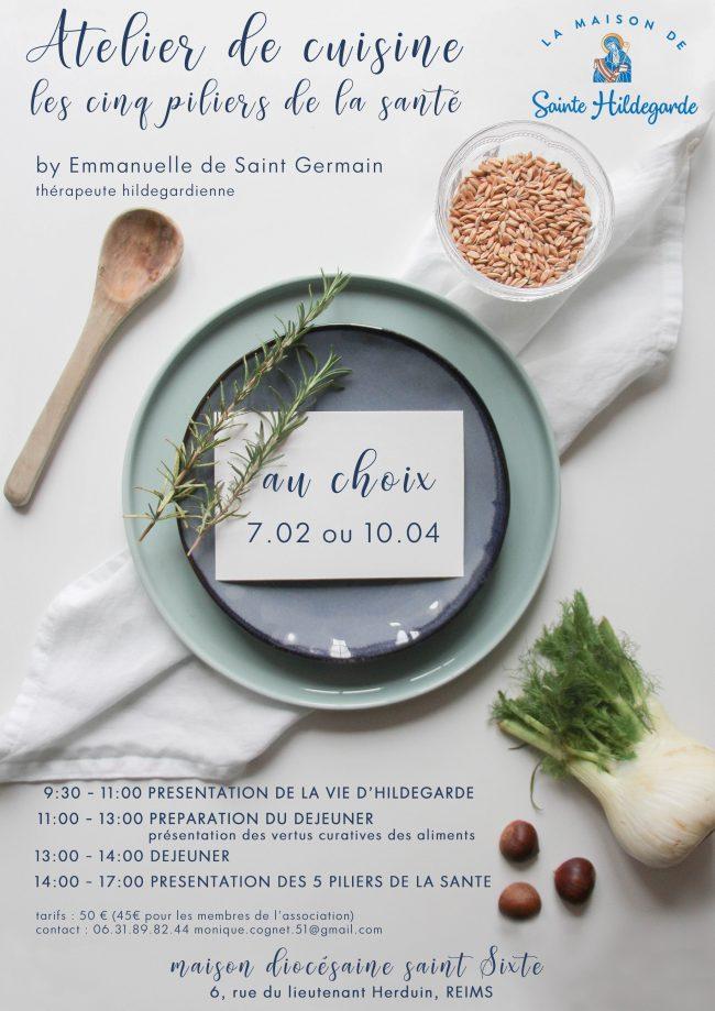 Ateliers de cuisine avec sainte Hildegarde de Bingen le 7 février ou le 10 avril 2019 à Reims (51)