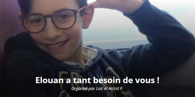 Elouan, 8 ans, a besoin d'aide!