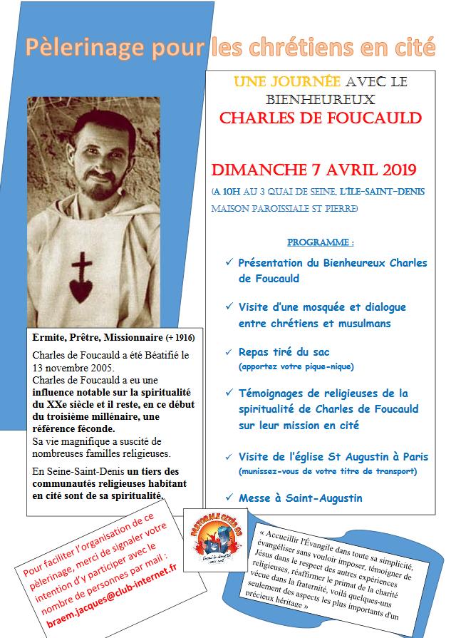 Pèlerinage pour les chrétiens en cité le 7 avril 2019 à L'Ile-Saint-Denis (93)