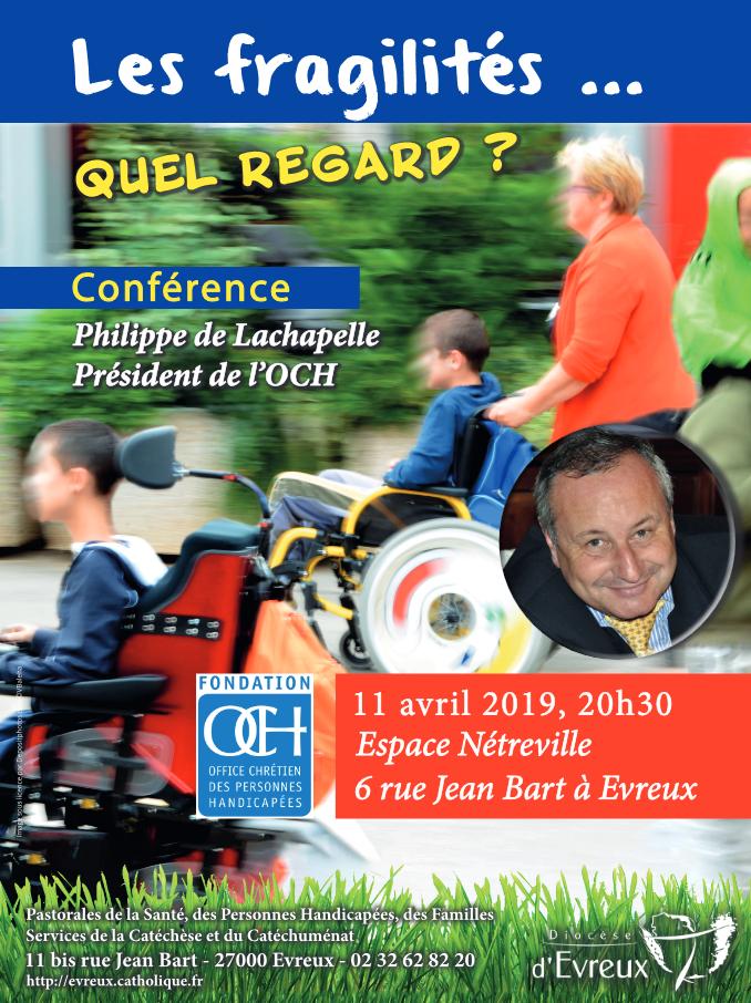 Conférence de l'Office Chrétiens des Personnes Handicapées – le 11 avril 2019 à Evreux (27)