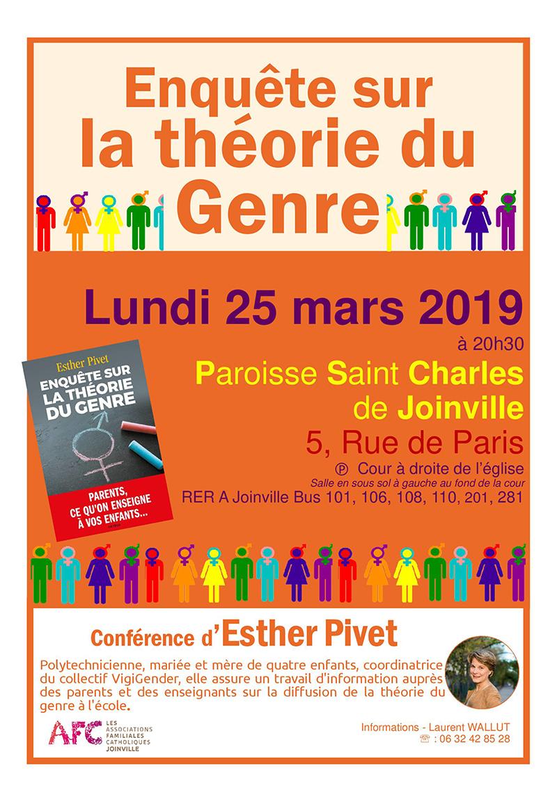 25 mars 2019: Enquête sur la théorie du genre – Joinville (94)