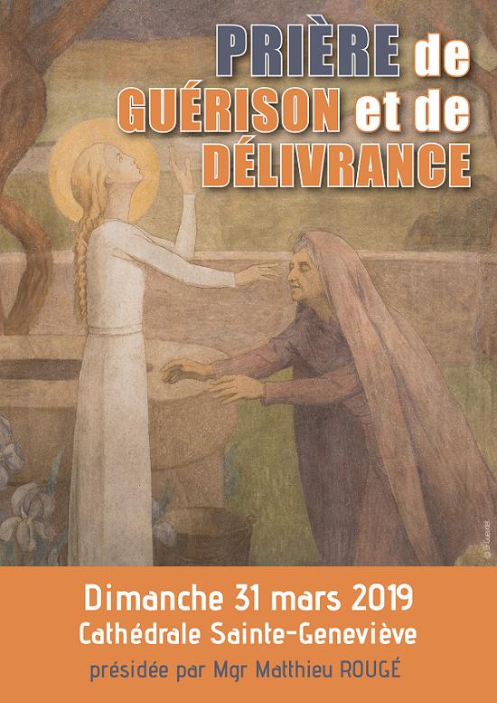 Prière de guérison et de délivrance le 31 mars 2019 à Nanterre (92)
