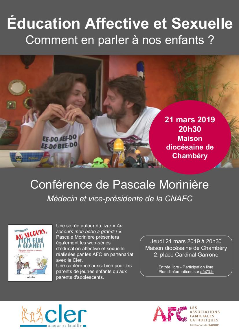 Education affective et sexuelle – Comment en parler à nos enfants?  Le 21 mars 2019 à Chambéry (73)