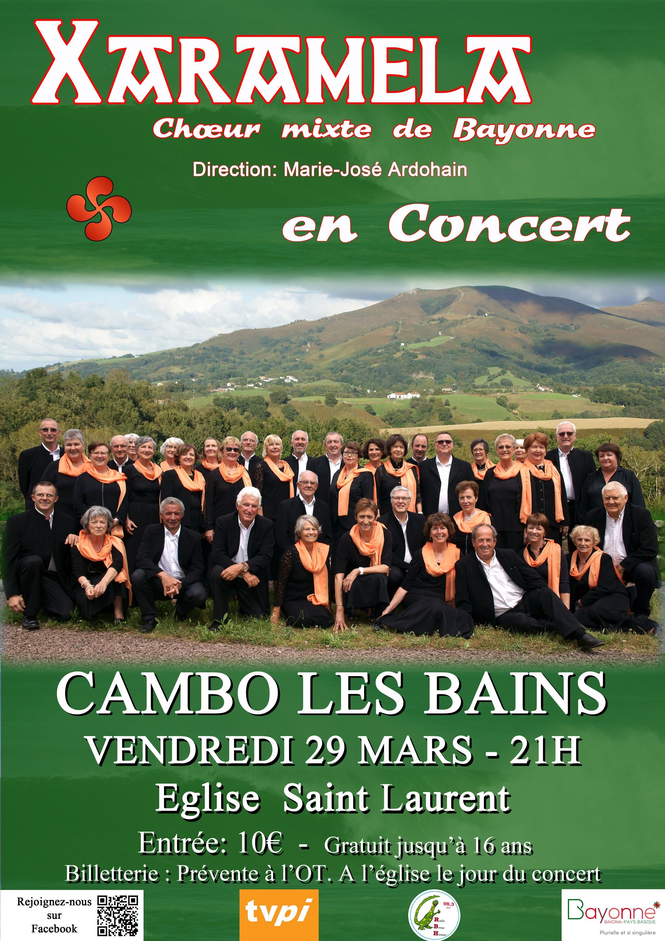 XARAMELA en concert à Cambo-les-Bains (64) le 29 mars 2019