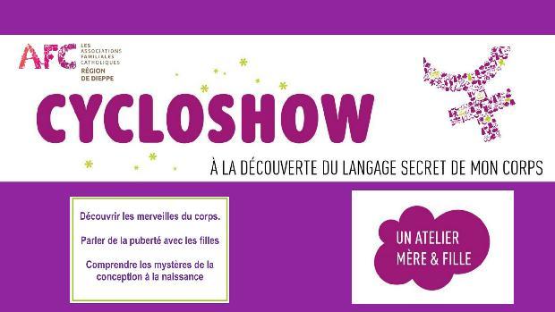 Atelier Cycloshow (mère et fille) – A la découverte du langage secret de mon corps le 24 mars 2019 à Mont-St-Aignan (76)