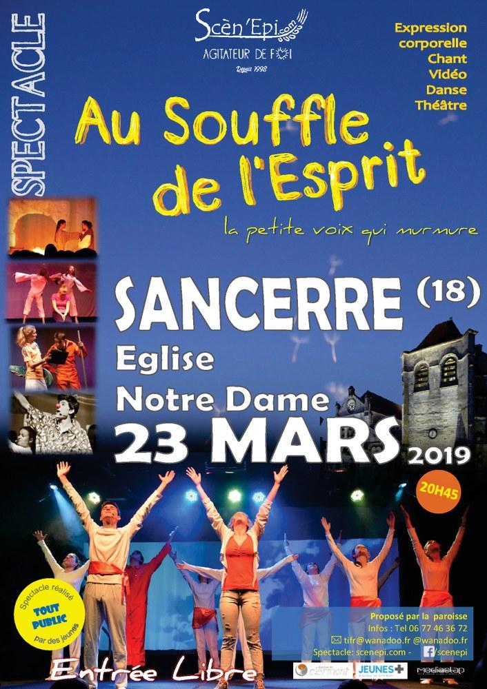 """Scèn'Epi – Spectacle """"Au Souffle de l'Esprit""""  le 23 mars 2019 à Sancerre (18)"""