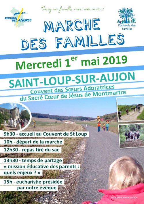 Marche des Familles à St Loup sur Aujon (52) le 1er mai 2019