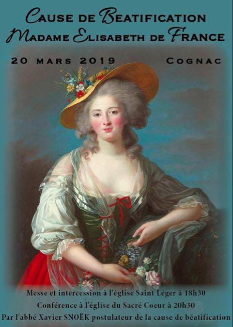 Messe et conférence pour la cause de béatification de Madame Elisabeth de France – Le 20 mars 2019 à Cognac (16)