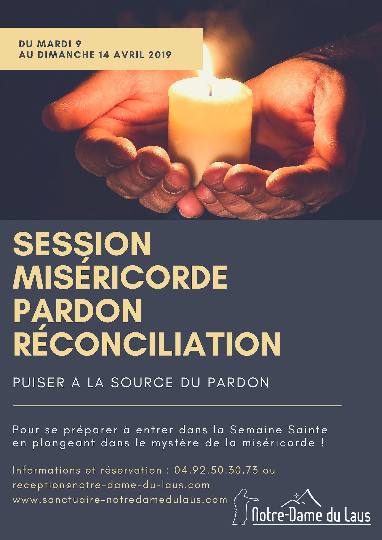 Session Miséricorde, Pardon, Réconciliation du 9 au 14 avril 2019 au Sanctuaire Notre-Dame du Laus (05)