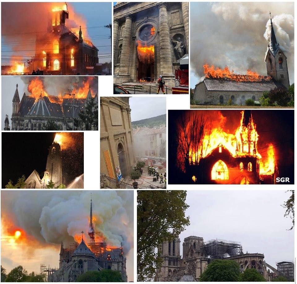 10 mois 10 églises catholiques incendiées en France