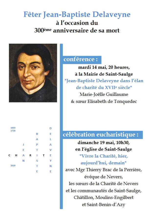 Fêter Jean-Baptiste Delaveyne les 14 et 19 mai 2019 à Saint-Saulge (58)
