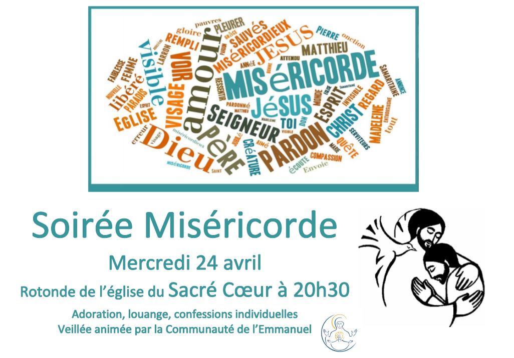 Veillée louange et miséricorde le 24 avril 2019 à Avignon (84)