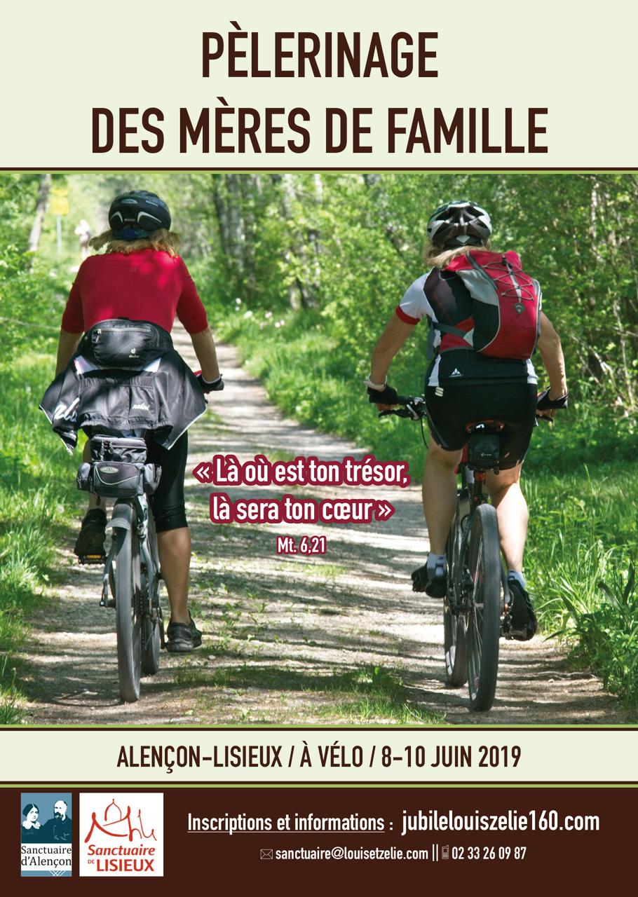 Pélé-cycle des mères de famille d'Alençon (61) à Lisieux du 8 au 10 juin 2019