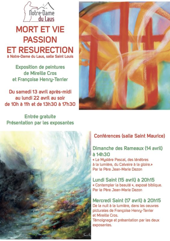Semaine Sainte à Notre-Dame du Laus (05): exposition de peinture et conférences du 13 au 22 avril 2019