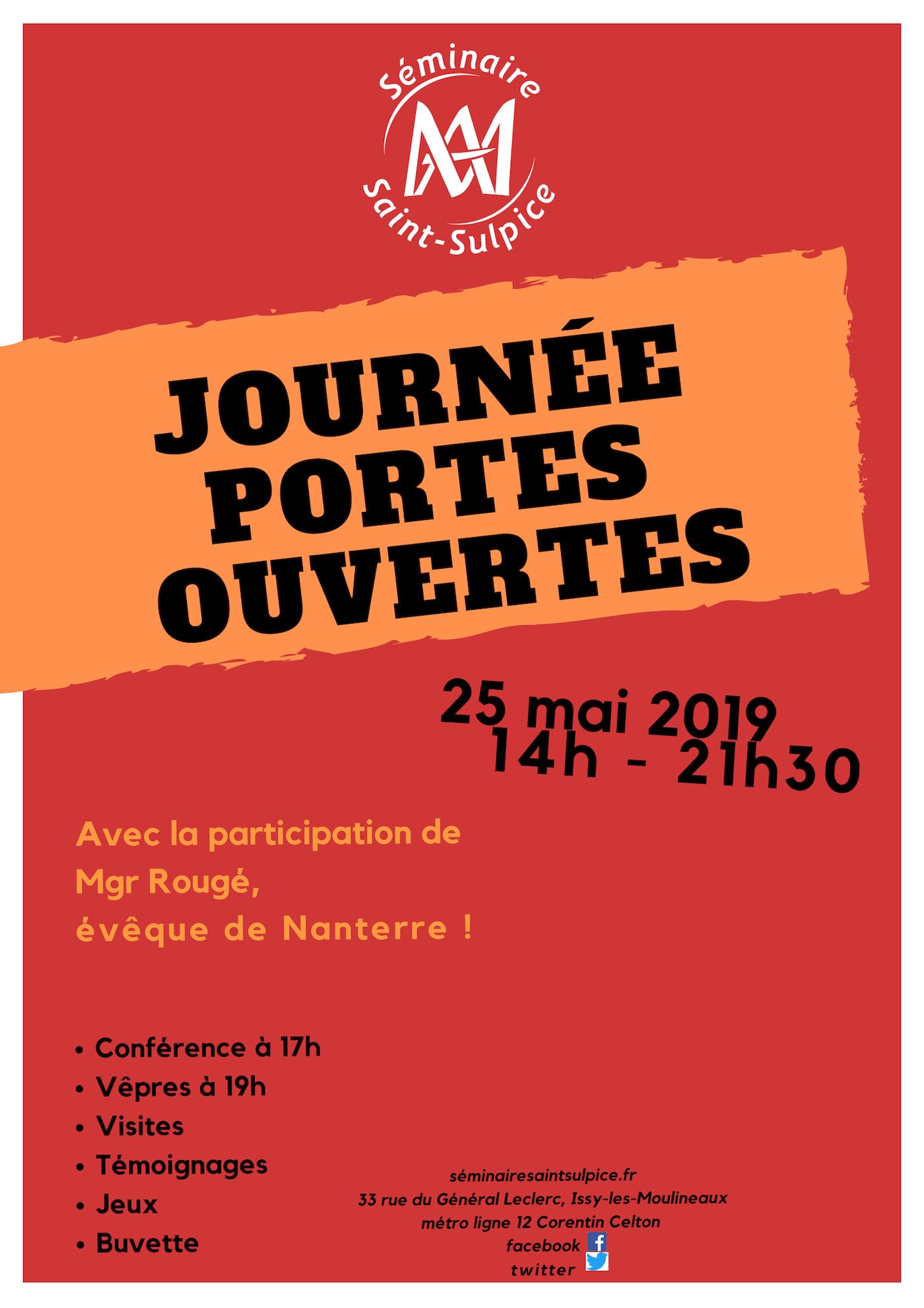 Portes ouvertes du Séminaire Saint-Sulpice à Issy-les-Moulineaux (92) le 25 mai 2019