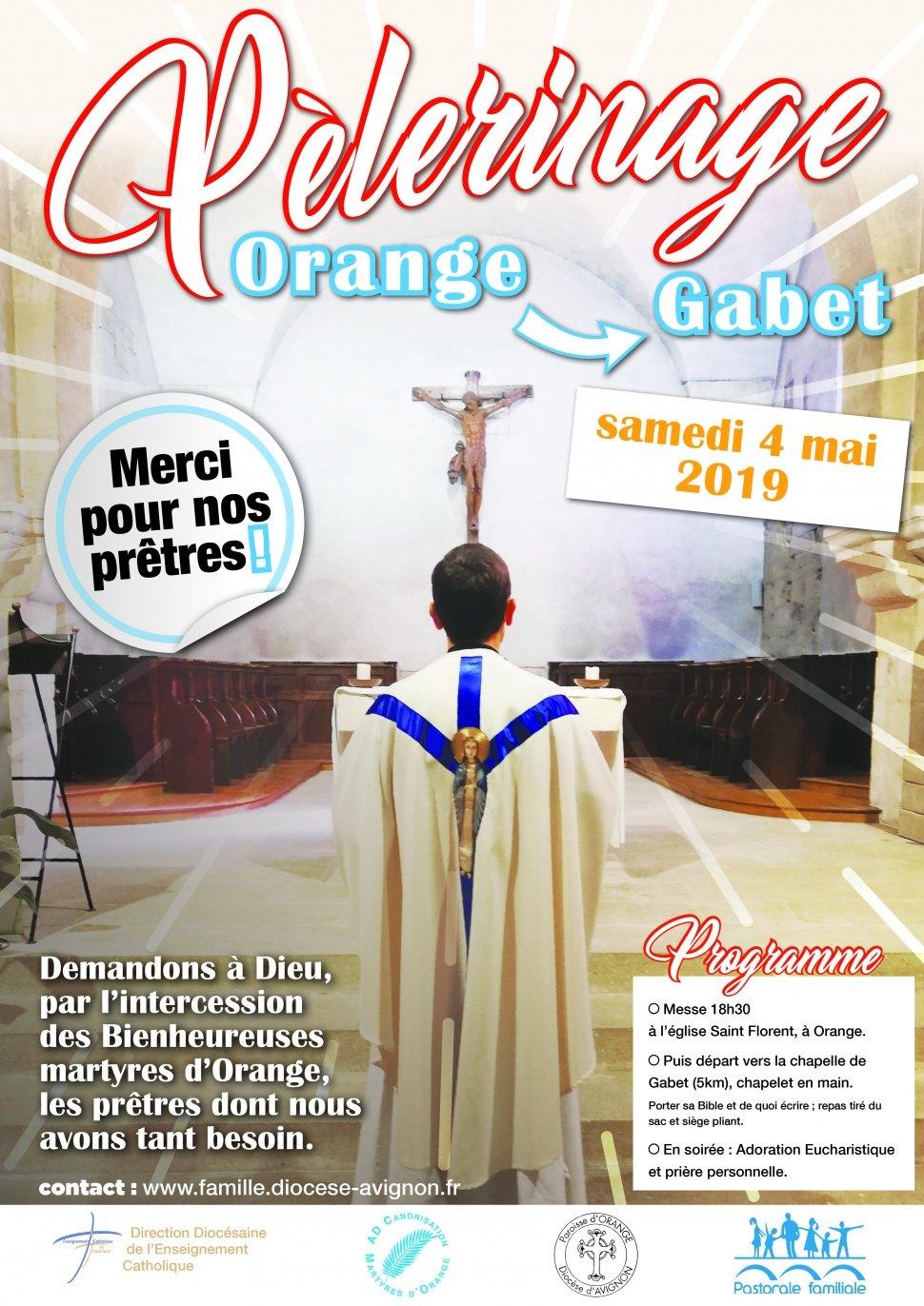 Pèlerinage de merci et de demande pour nos prêtres – le 4 mai 2019 à Orange (84)
