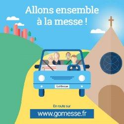 Lancement de GoMesse, la plateforme web de covoiturage entre paroissiens