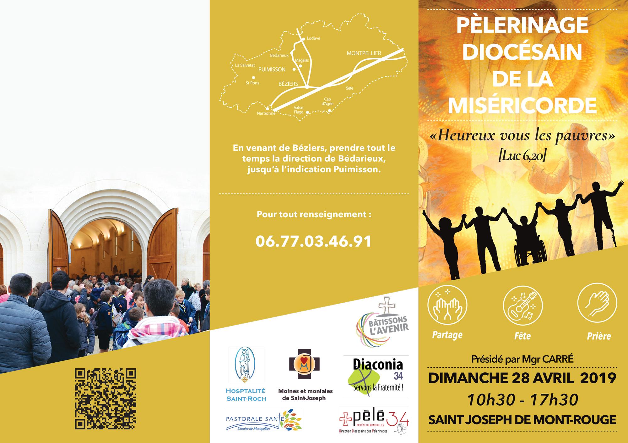 Pèlerinage de la Miséricorde le 28 avril 2019 à Saint-Joseph de Mont-Rouge (Puimisson (34))