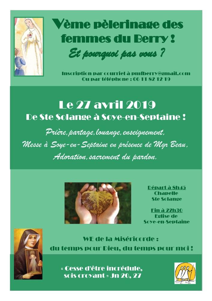 5e pèlerinage des Femmes du Berry le 27 avril 2019 à Sainte-Solange (18)