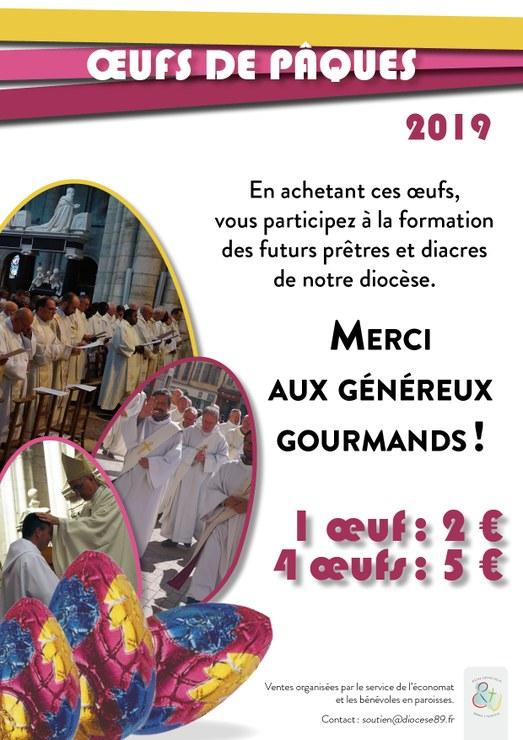 À Pâques, soutenir financièrement les séminaristes du diocèse de Sens & Auxerre (89) avec du chocolat