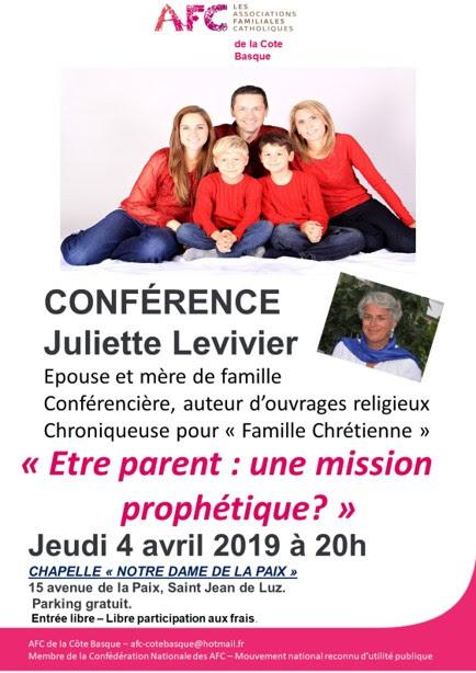 """Conférence de Juliette Levivier sur """"Être parent"""" le 4 avril à Saint-Jean-de-Luz (64)"""