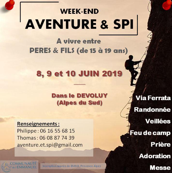 Aventure & Spi: un week-end père-fils du 8 au 10 juin 2019 à Dévoluy (05)