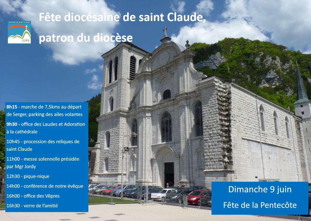 Fête diocésaine de saint Claude à Saint-Claude (39) le 9 juin 2019