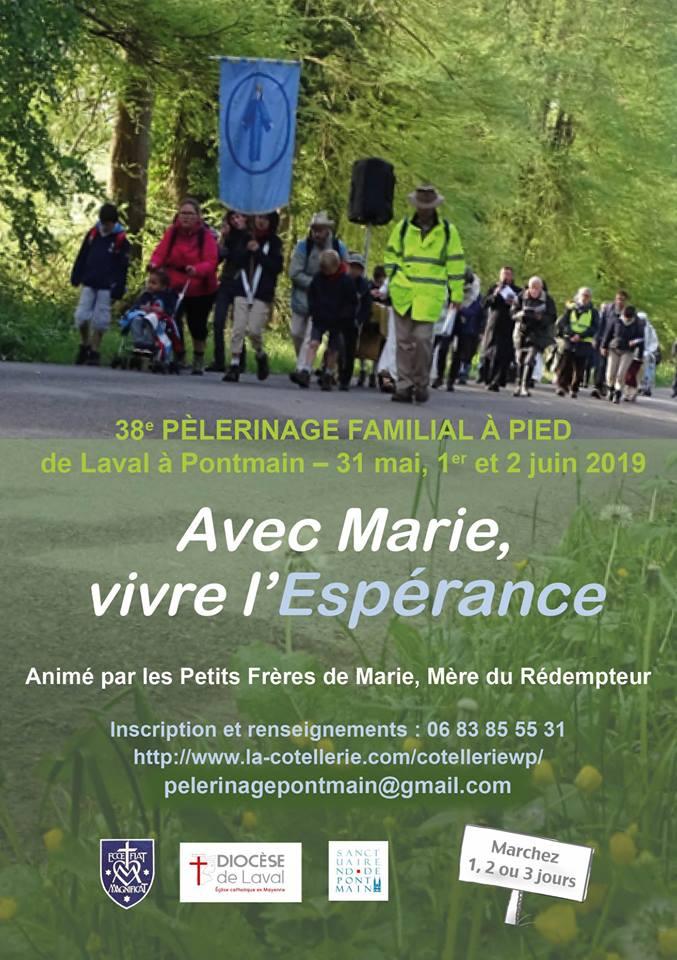 Pèlerinage Laval-Pontmain (53) pour les familles du 31 mai au 2 juin 2019