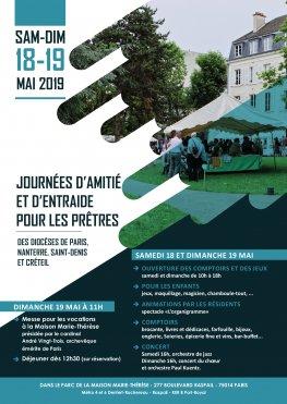 Journées d'amitié et d'entraide pour les prêtres (JAEP) les 18 & 19 mai 2019 à Paris