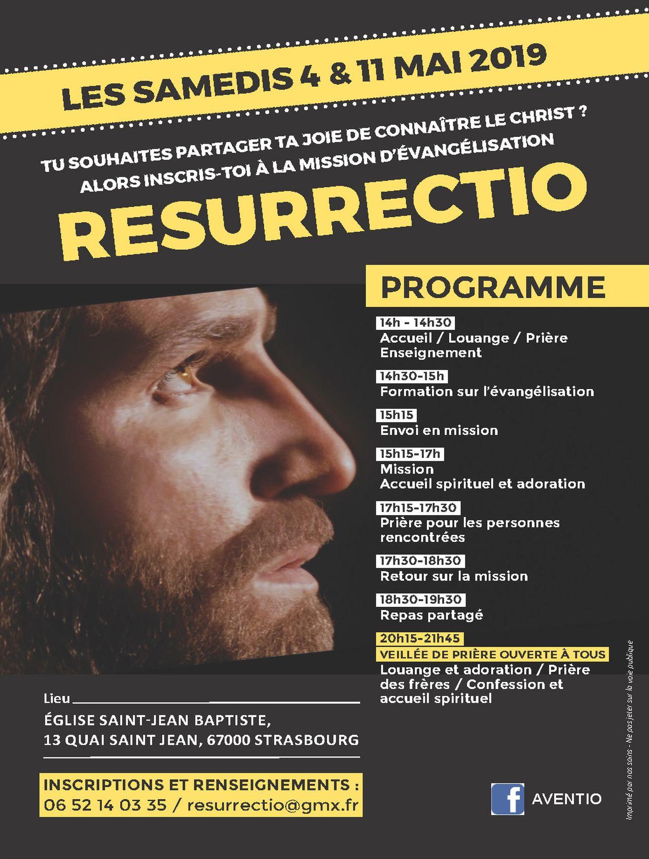 Mission Resurrectio le 11 mai 2019 à Strasbourg (67)