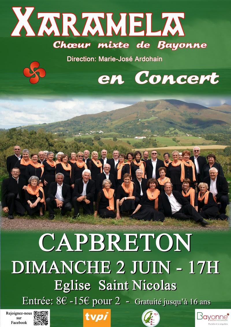 Concert du choeur Xaramela le 2 juin 2019 à Capbreton (40)