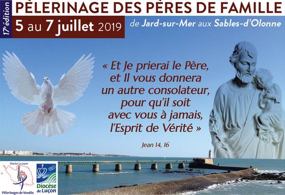 Pèlerinage des pères de famille du 5 au 7 juillet 2019 de Jard-sur-Mer (85) aux Sables-d'Olonne