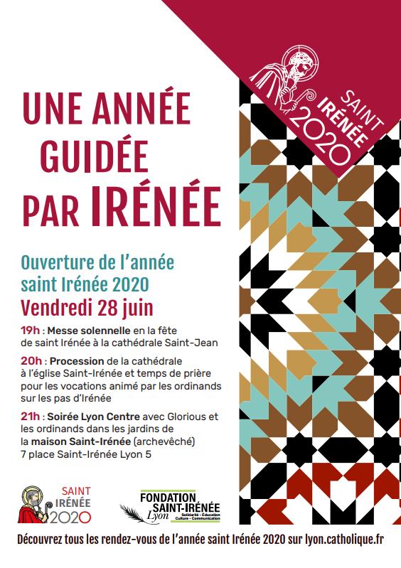 Ouverture de l'année Saint Irénée le 28 juin 2019 à Lyon (69)