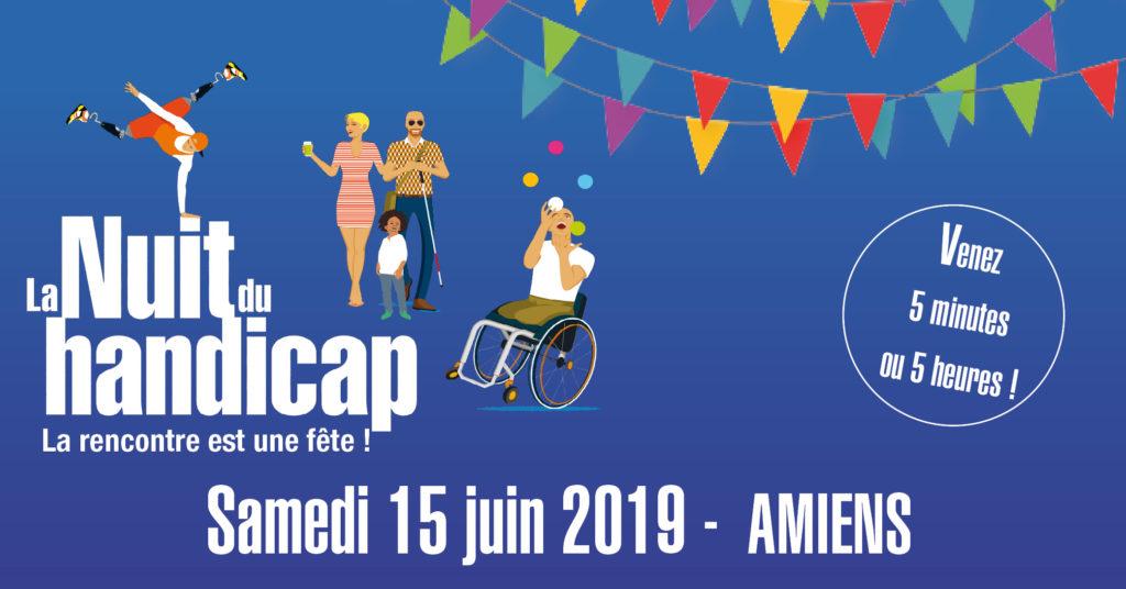 Nuit du Handicap à Amiens (80) le 15 juin 2019