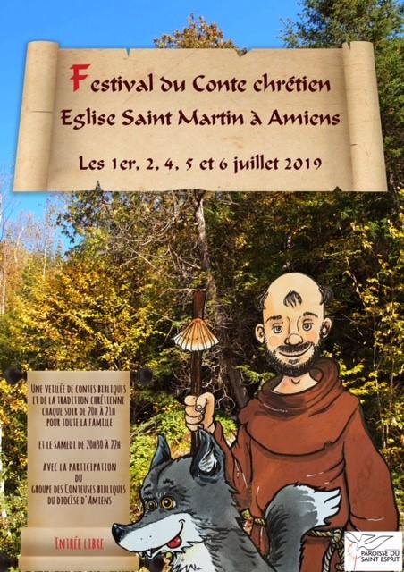 Festival du conte chrétien du 1er au 6 juillet 2019 à Amiens (80)